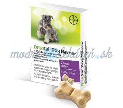DRONTAL DOG FLAVOUR 150/144/50MG 4X6TBL