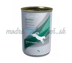TROVET WRD PES   400G KONZ. WEIGHT DIABETIC