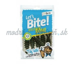 Pamlsok BRIT LET' S BITE dog pochúťky Brushin' Bone 90 g