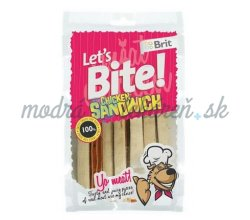 Pamlsok BRIT LET' S BITE dog pochúťky Chicken Sandwich 80 g