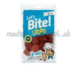 Pamlsok BRIT LET' S BITE dog pochúťky Loops 80 g