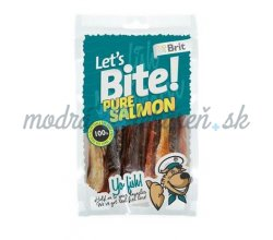 Pamlsok BRIT LET' S BITE dog pochúťky Pure Salmon 80 g