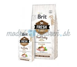 BRIT Fresh Light Fit & Slim morčacie s hráškom