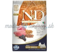 Farmina N&D dog LG adult mini lamb & blueberry