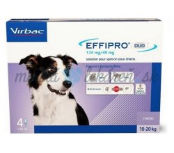 EFFIPRO DUO M 134 mg/ 40 mg spot-on psy 10-20 kg 4 x 1,34 ml