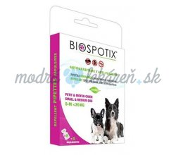 BIOGANCE Biospotix Dog spot-on S-M s repelentným účinkom 5 x 1 ml (do 20 kg)